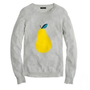J. Crew Grey Crewneck Long Sleeve Pear Sweater XS